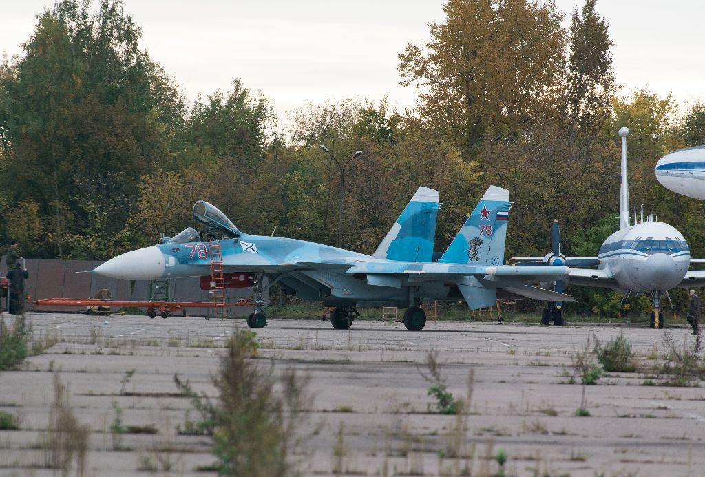 One of the recently upgraded Su-33s is '78 Red'. Stanislav Bazhenov